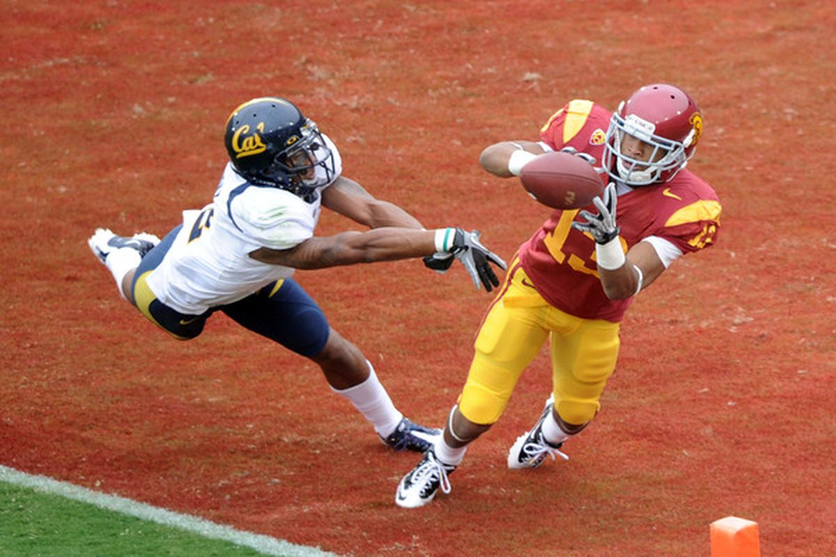 Will USC's Robert Woods victimize Marc Anthony and the Cal secondary this year?