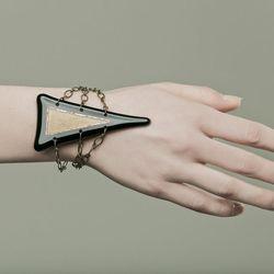 """<a href=""""http://shop.sheilafrank.net/product/pyramid-bracelet"""">Pyramid Bracelet</a>, $55"""