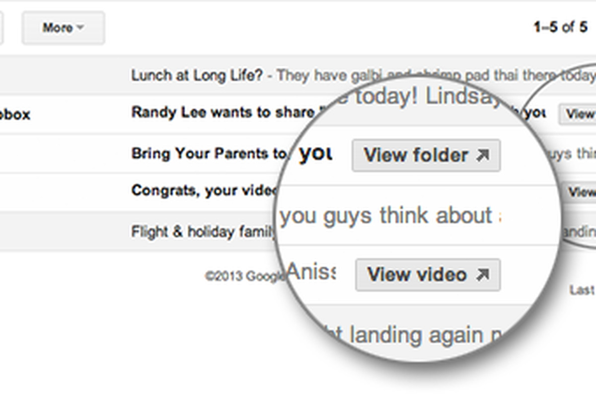 Outstanding Gmail Adds Quick Action Buttons For Youtube Dropbox Home Interior And Landscaping Eliaenasavecom