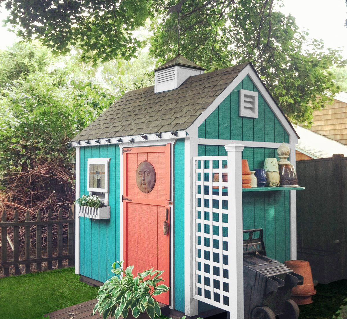 Multicolored Garden Shed
