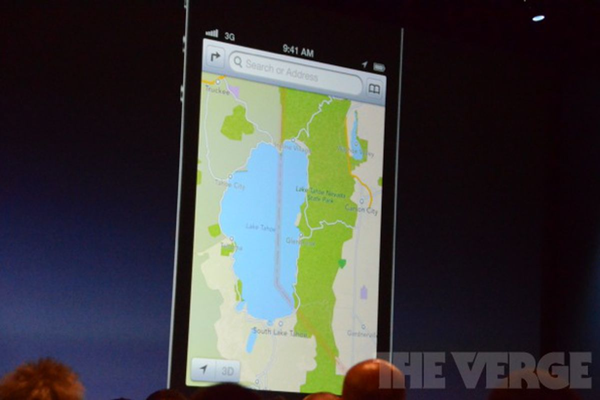Apple replaces Google Maps with its own maps, turn-by-turn ... on android map, microsoft map, 3m map, venice venice louisianna bay map, mobile map, java map, click map, google map, at&t map, greater china map,