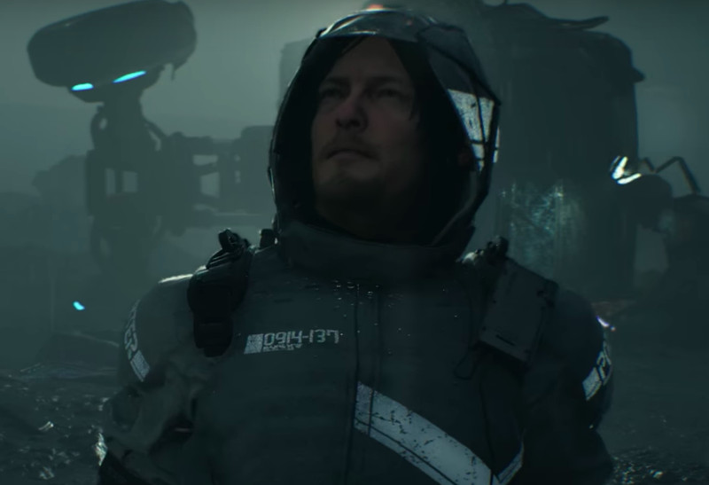 numbers on norman reedus in death stranding trailer