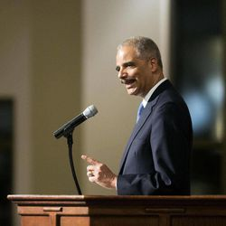 U.S. Attorney General Eric Holder speaks to members of the community during an interfaith service at Ebenezer Baptist Church, the church where The Rev. Martin Luther King Jr. preached, Monday, Dec. 1, 2014, in Atlanta. Holder traveled to Atlanta to meet with law enforcement and community leaders for the first in a series of regional meetings around the country. The president asked Holder to set up the meetings in the wake of clashes between protesters and police in Ferguson, Missouri.