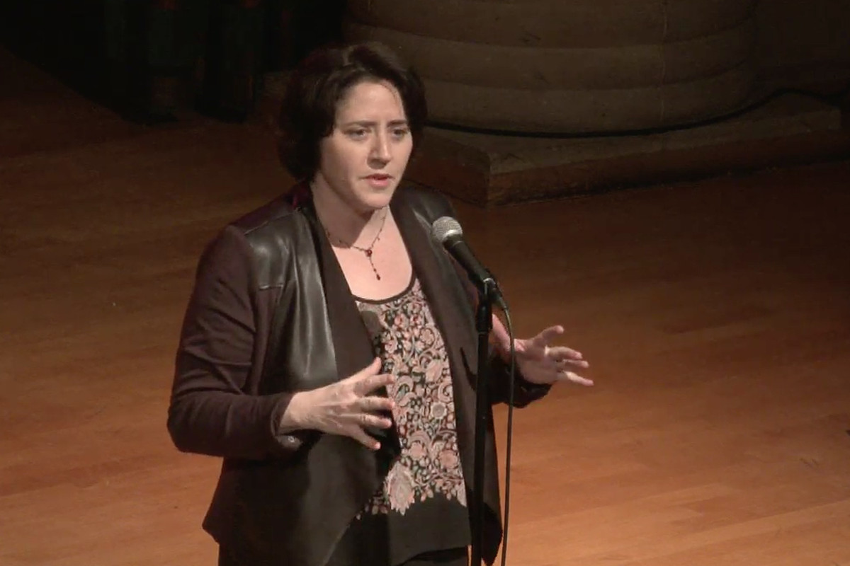 Erin Einhorn takes the stage at the Charles H. Wright Museum.