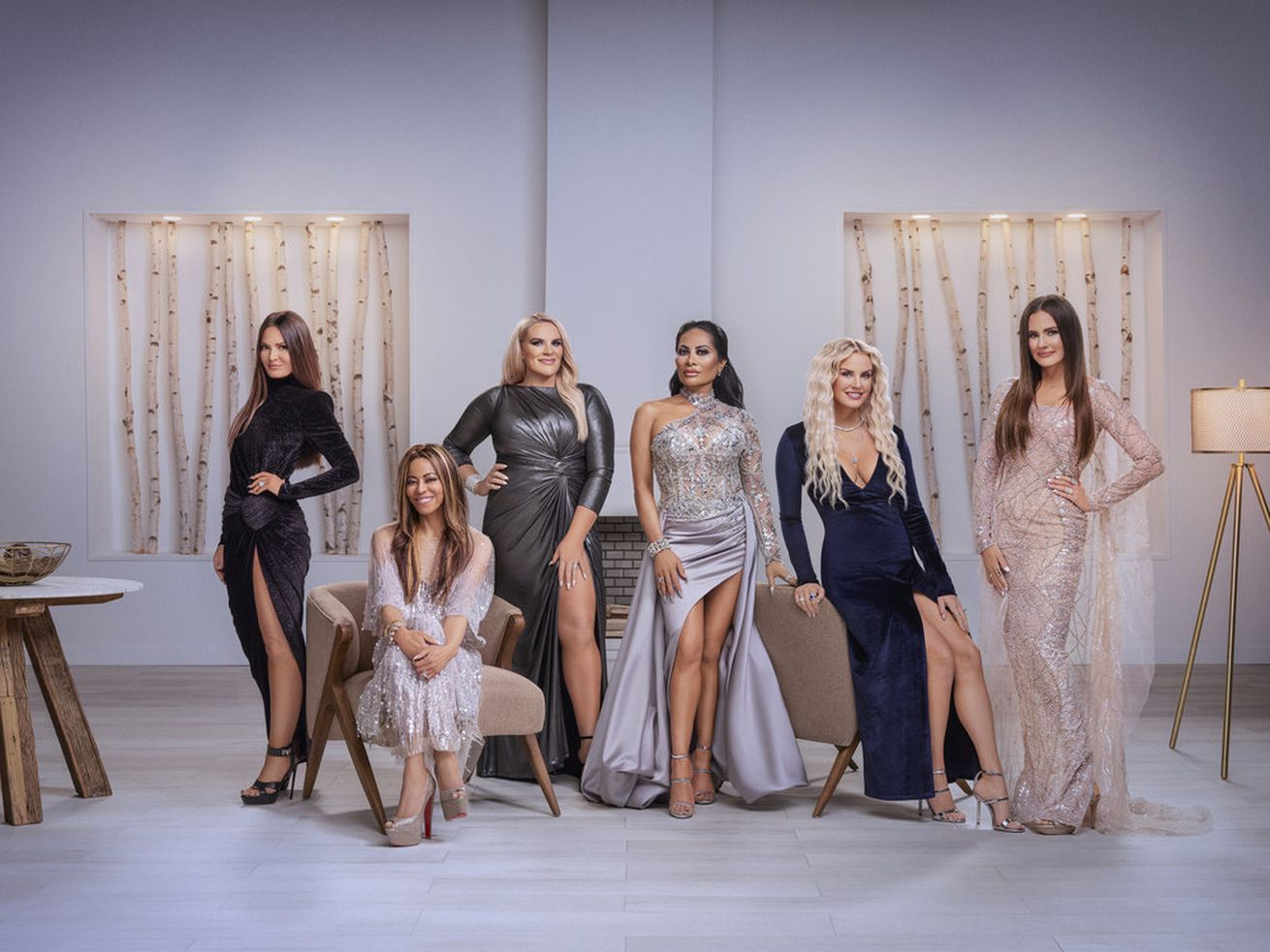 """Lisa Barlow, Mary Cosby, Heather Gay, Jen Shah, Whitney Rose, Meredith Marks from """"The Real Housewives of Salt Lake City."""""""