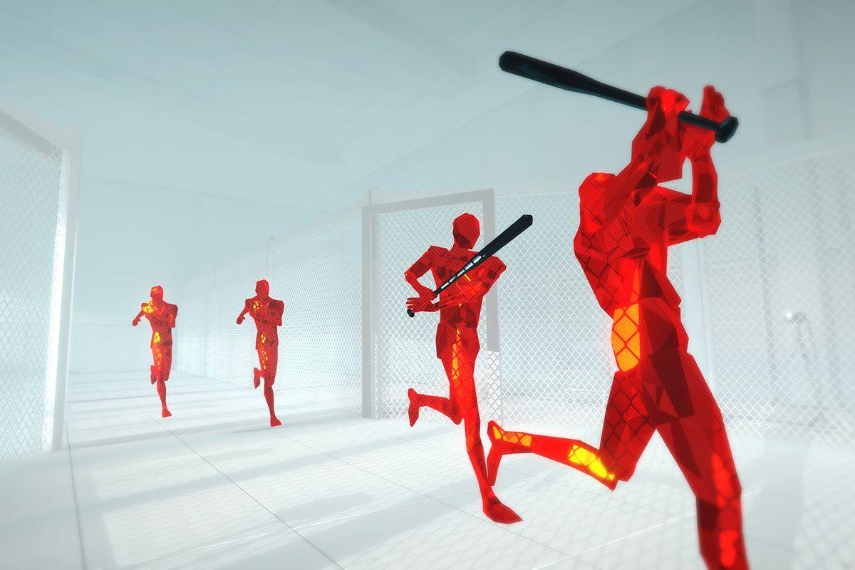 An image from <em>Superhot</em>.