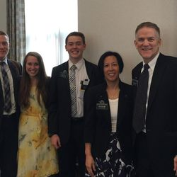 Marissa Anderson Woolsey and her husband, Bryant, went back to Taiwan to celebrate their one-year wedding anniversary and received permission by their former mission president, President Blickenstaff, to see Elder Miles Anderson.
