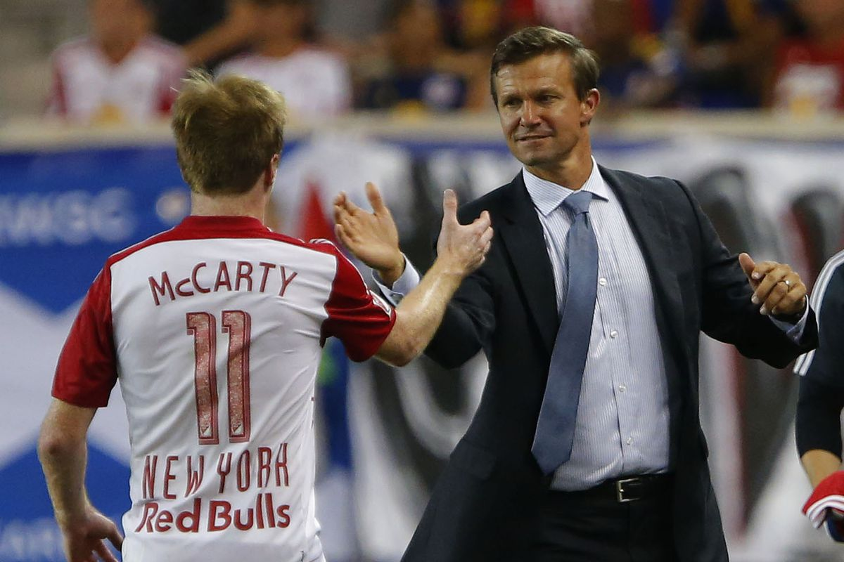 Dax McCarty and Jesse Marsch, two of the foes TFC will look to vanquish on Wednesday