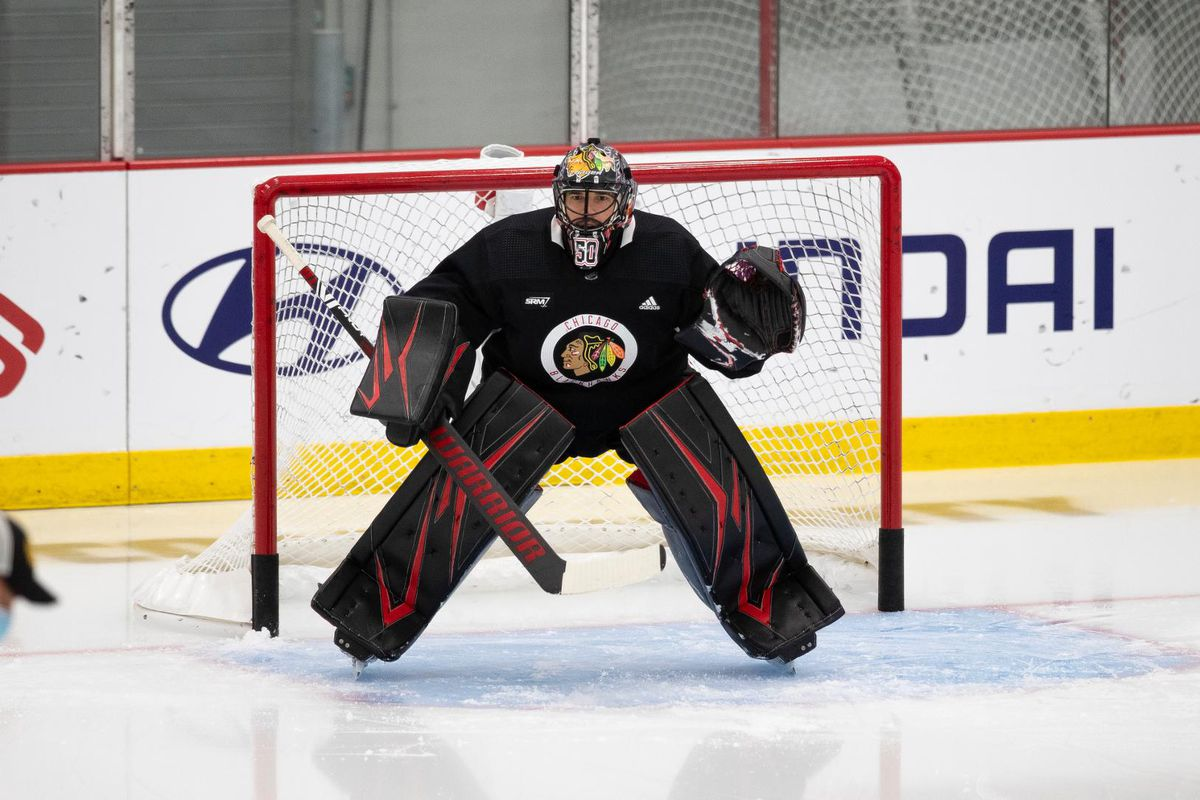 Corey Crawford Joins Chicago Blackhawks After Recovering From Covid 19 Second City Hockey