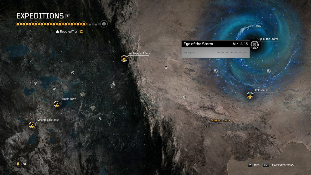Outriders Eye of the Storm Expedition