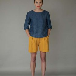 Carrie top, $285; Rosie shorts, $450