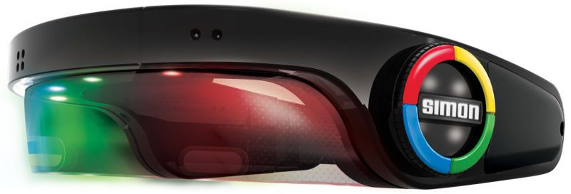 The wearable version of Simon takes inspiration from a VR headset