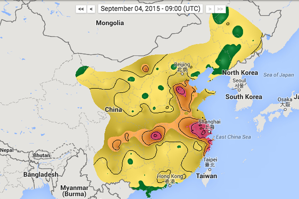 Image Of China Map.See China S Air Pollution In Real Time The Verge