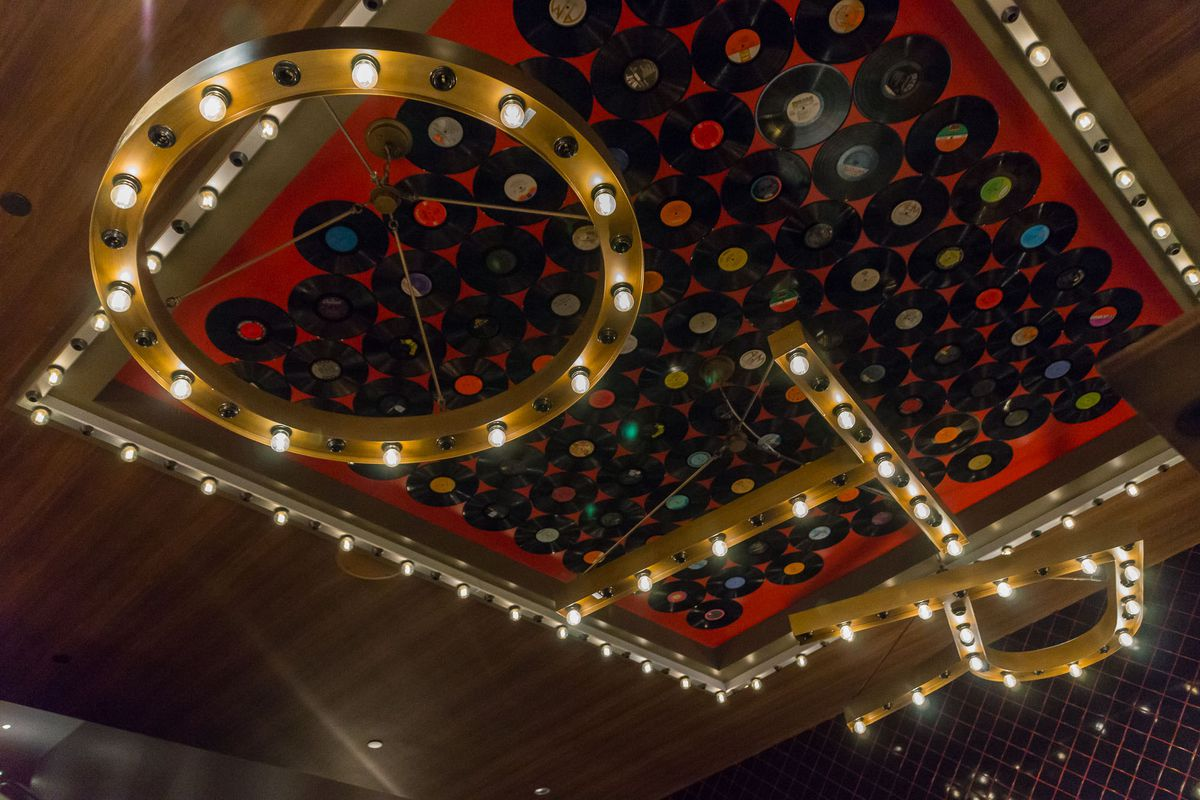 The ceiling at the entrance of On the Record