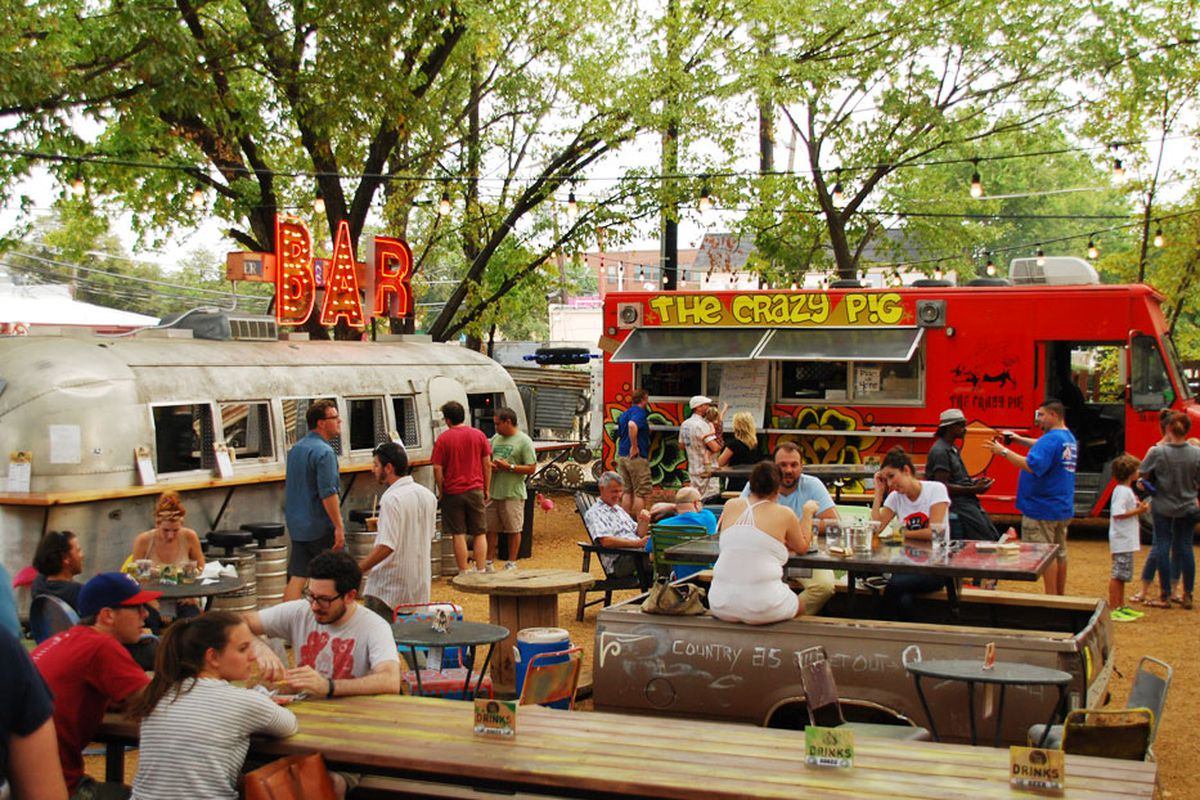 Truck Yard's patio in more serene times