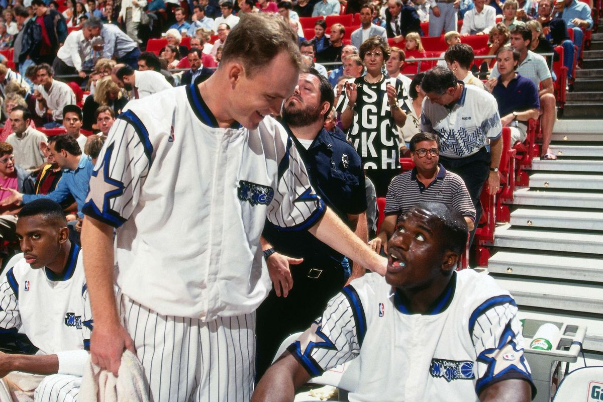 Scott Skiles and Shaquille O'Neal