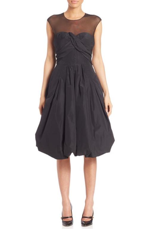 Oscar de la Renta Bubble Hem Cocktail Dress, $1,099