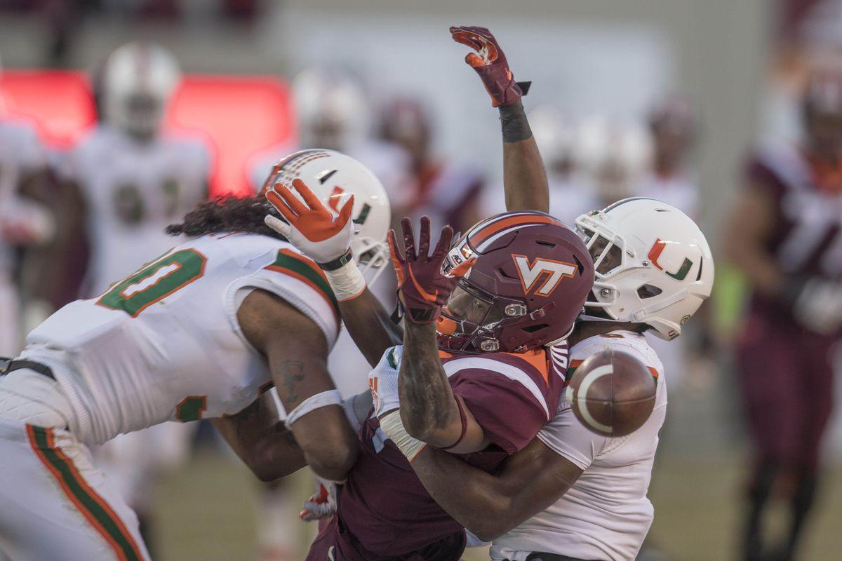 NCAA Football: Miami at Virginia Tech