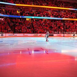 Blackhawks During National Anthem