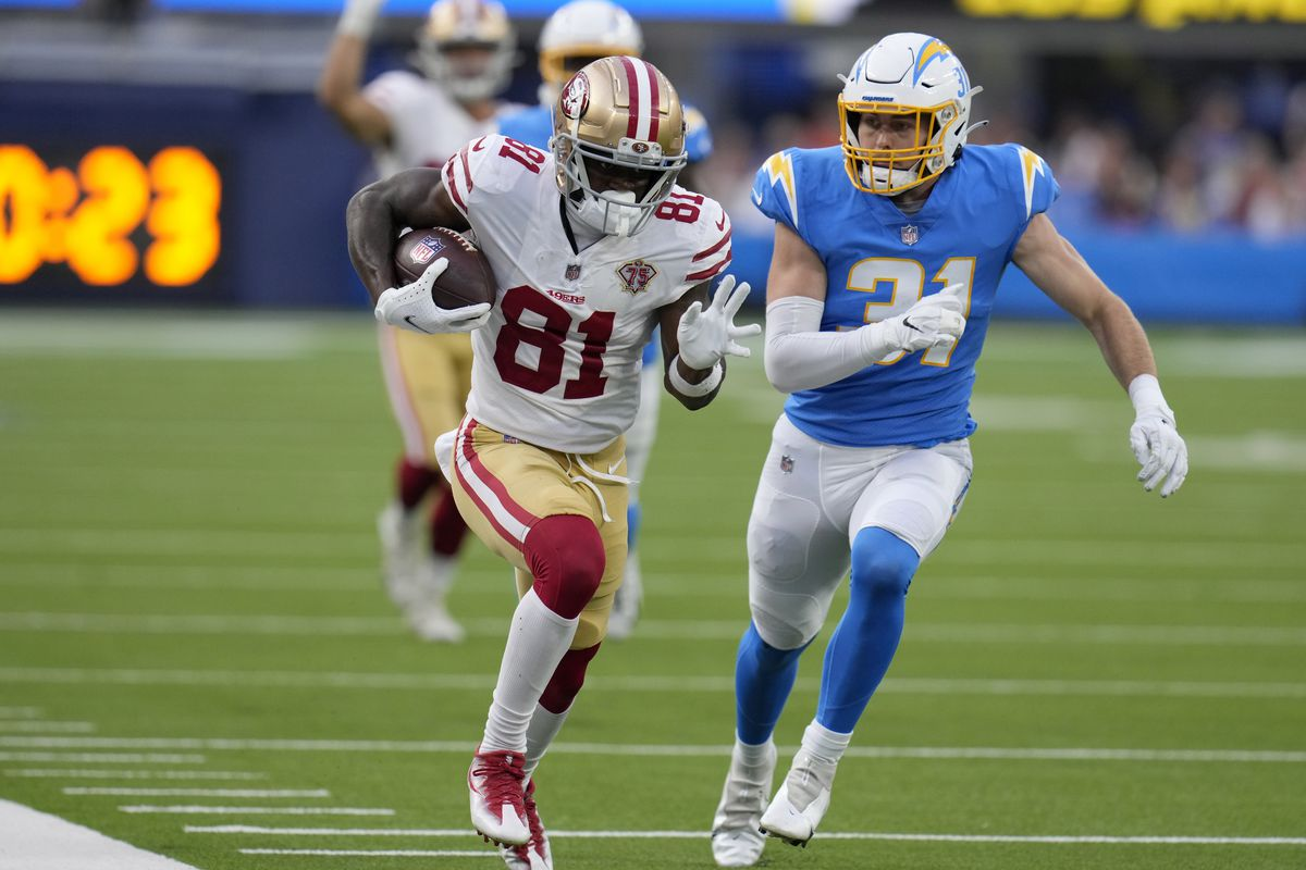 San Francisco 49ers defeated the Los Angeles Chargers 15-10 during a pre-season football game.