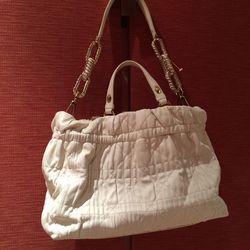 Jimmy Choo white leather bag // $800