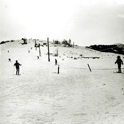 Little Mountain resort, a hit with skiers in the 1950s and '60s, was little more than a bump nine miles up Emigration Canyon. It was serviced by two rope tows, each 500 feet long.