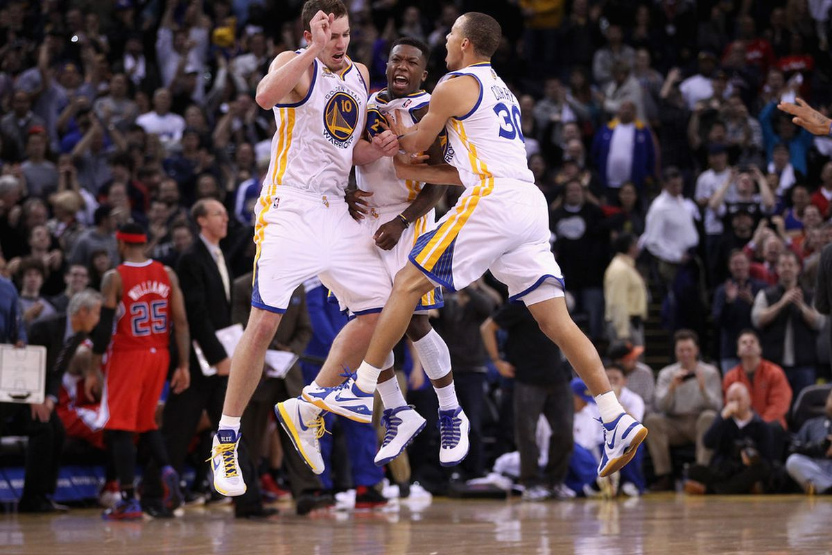 Unfortunately, we will likely have only one member of this dynamic trio on our Golden State Warriors 3 on 3 team.<em> Photo by Ezra Shaw/Getty Images.</em>