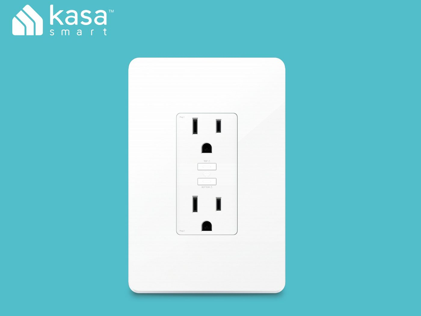 TP-Link KP200 smart outlet is actually an outlet, not a