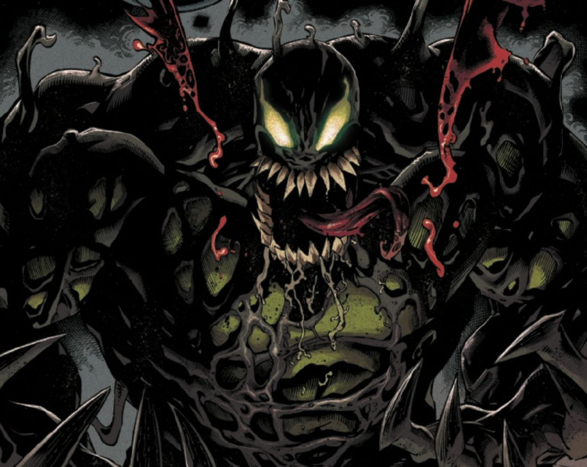 The Venom symbiote merges with the Hulk in Absolute Carnage #3, Marvel Comics (2019).