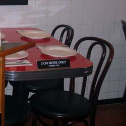 Little touches like the table signage add to the vibe.