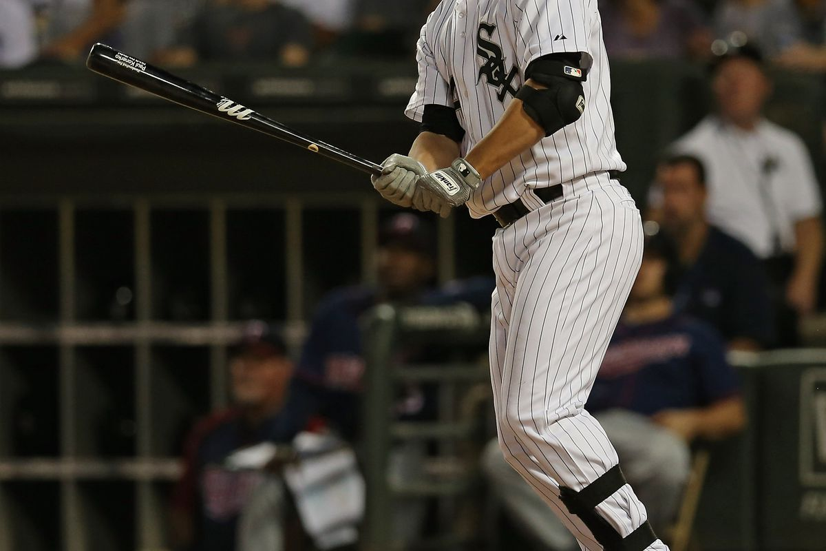 Paul Konerko was most of the offense through the first six innings, and then his teammates joined in.
