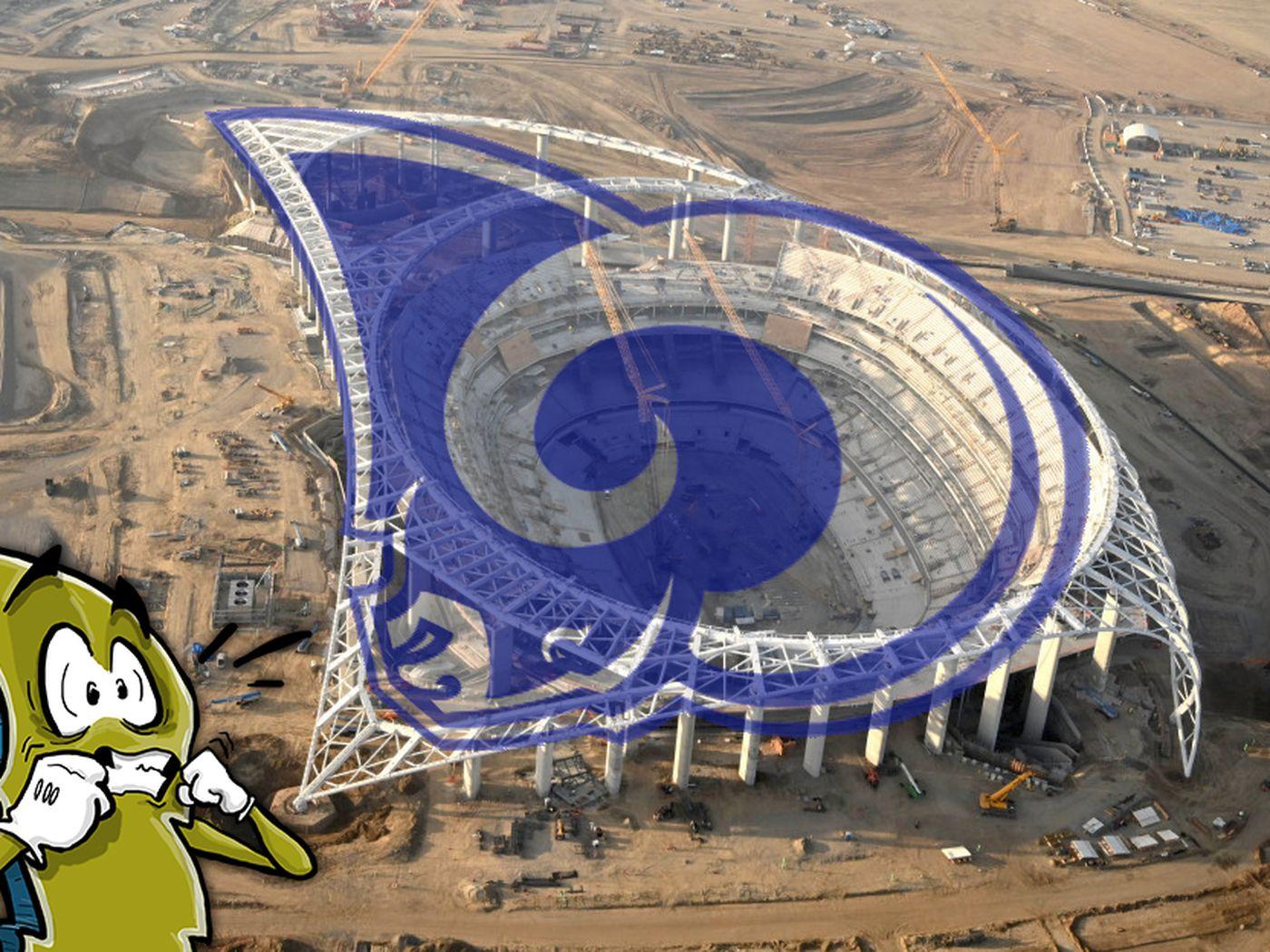 Stadium Talk: Does SoFi Stadium look like the Rams logo? - Bolts ...