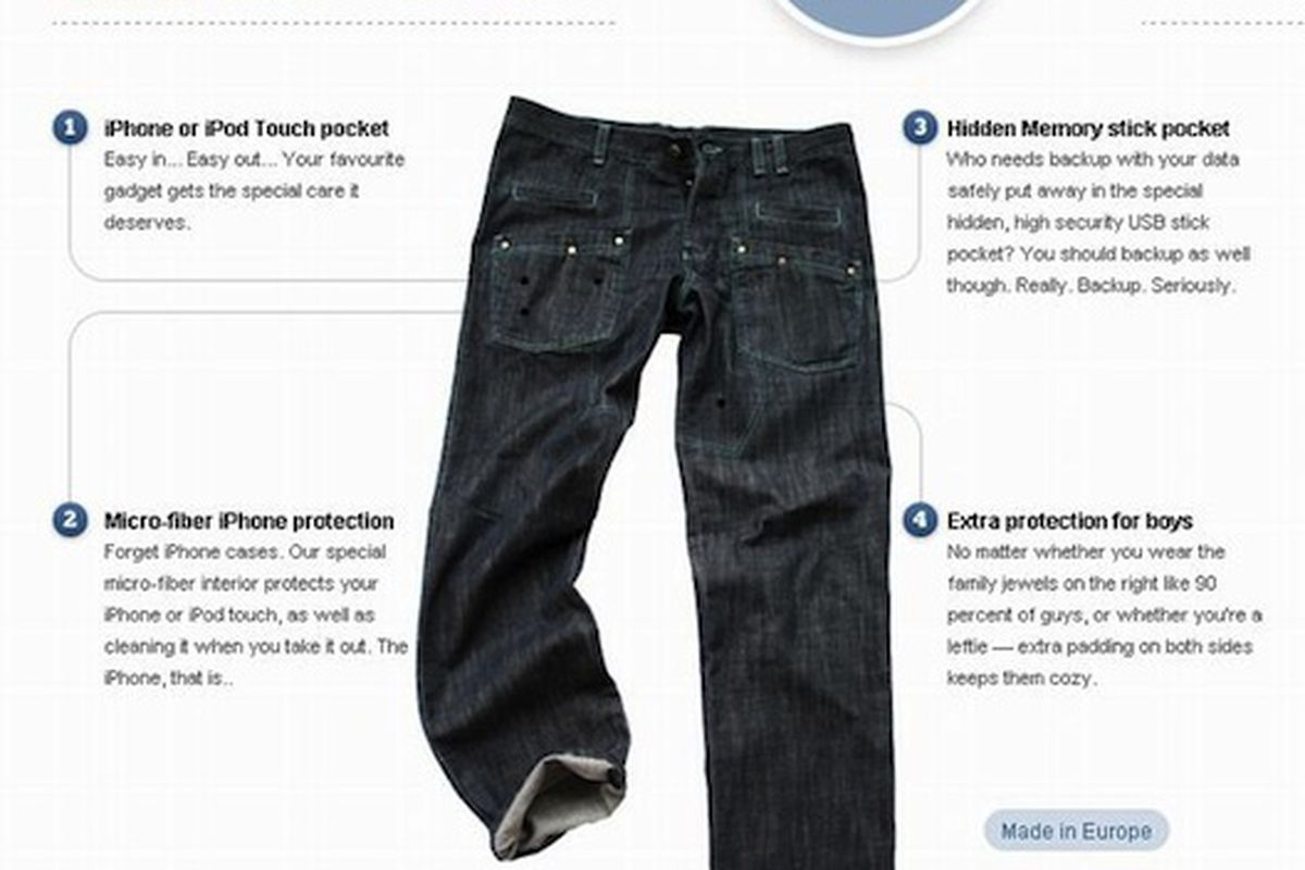 """WTF Jeans, image via <a href=""""http://mashable.com/2010/03/05/wtfjeans-have-special-pockets-for-all-your-gadgets"""">Mashable</a>"""