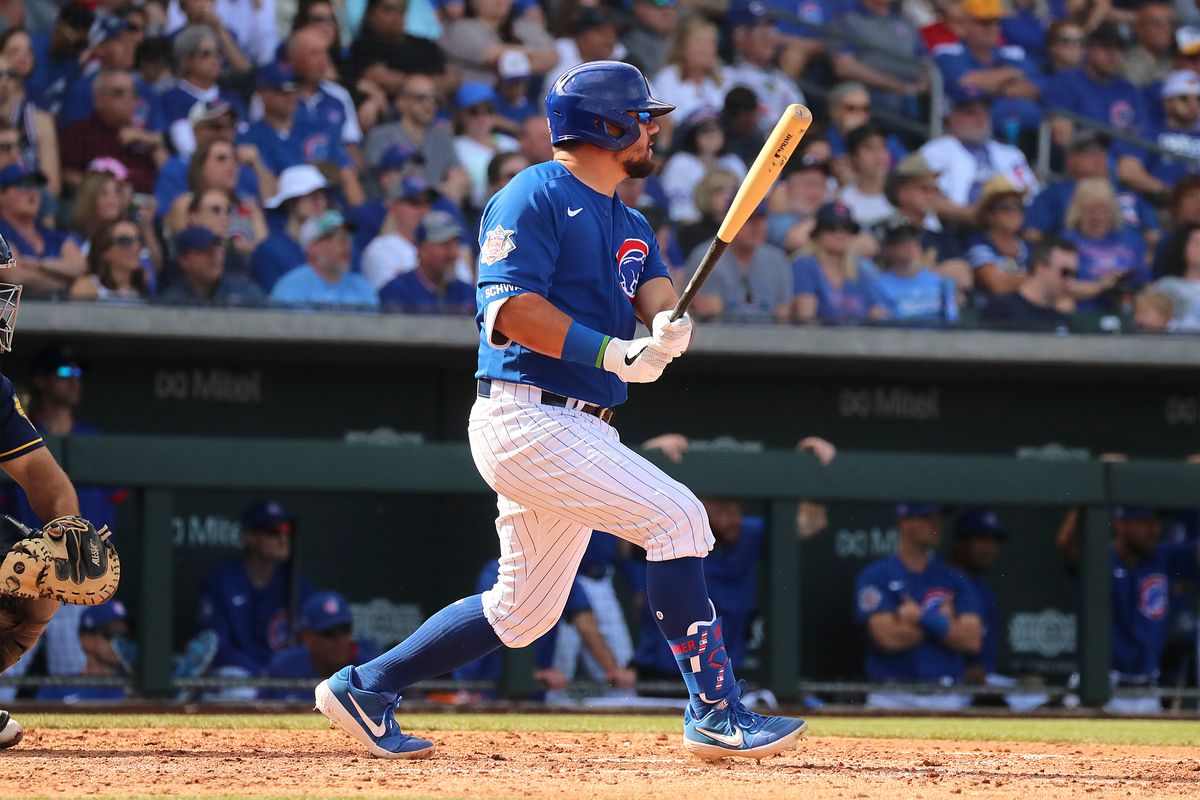If the designated hitter comes to the National League, Kyle Scwarber would be a natural fit for the Cubs.