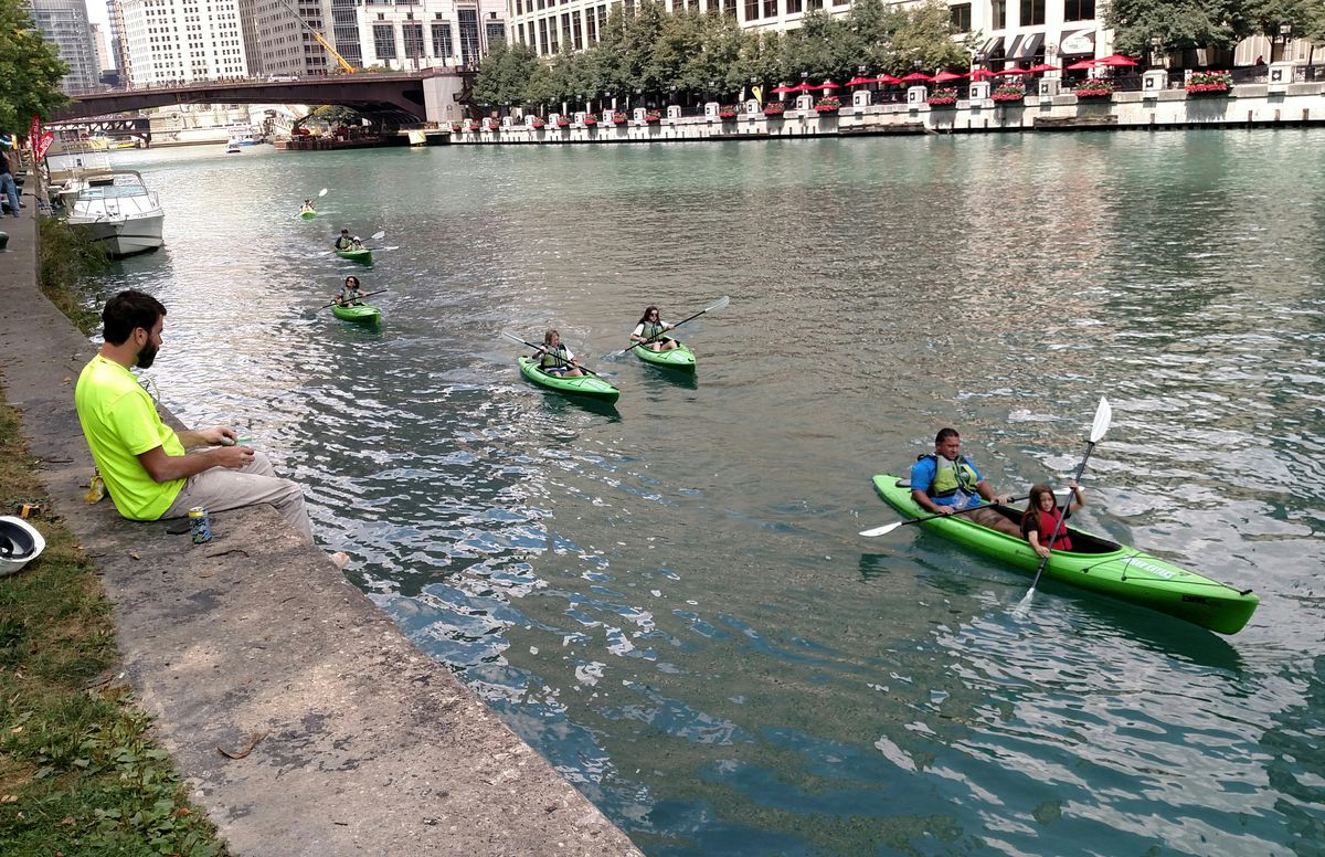 """There are many ways to experience the Chicago Riverwalk,one treasure mentioned in """"Nature in Chicagoland."""" Credit: Dale Bowman"""