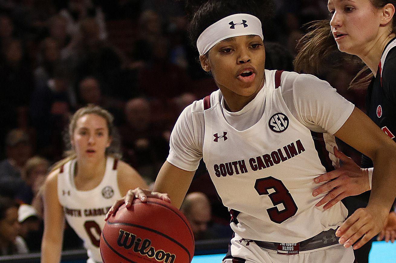 COLLEGE BASKETBALL: MAR 06 SEC Women's Tournament - Georgia vs South Carolina