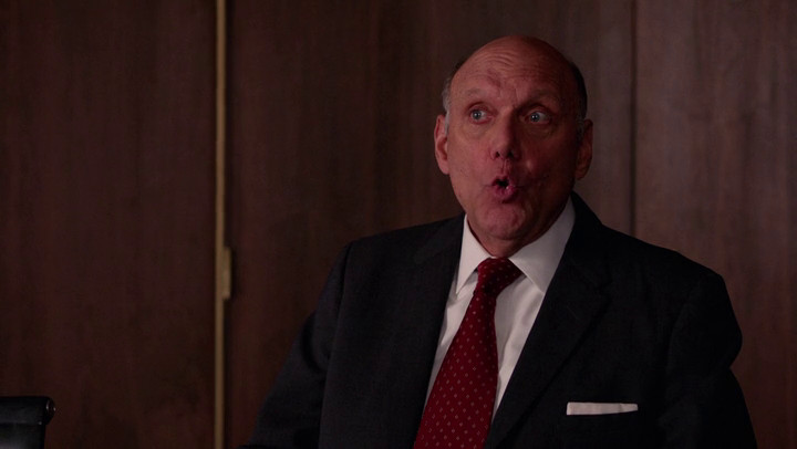 Jim Hobart has some bad news to deliver on Mad Men.