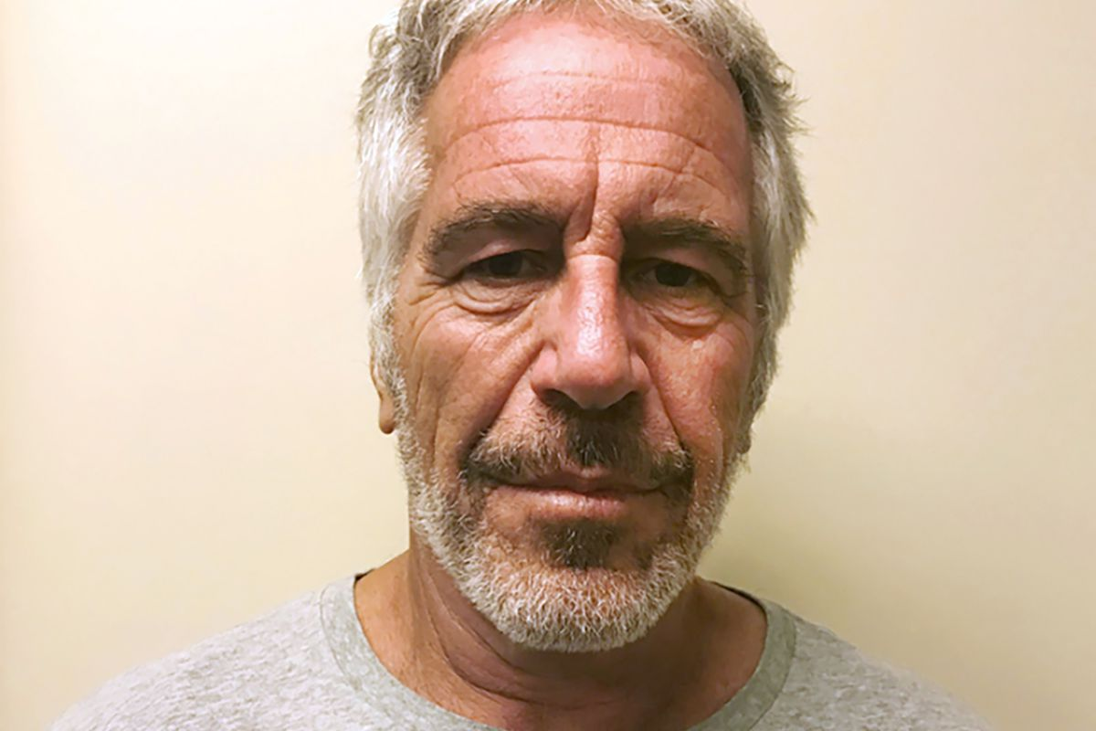 FILE - This March 28, 2017, file photo, provided by the New York State Sex Offender Registry shows Jeffrey Epstein.  Epstein has died by suicide while awaiting trial on sex-trafficking charges, says person briefed on the matter, Saturday, Aug. 10, 2019. (