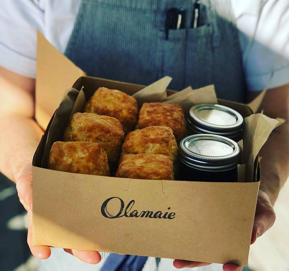 Olamaie's box of biscuits