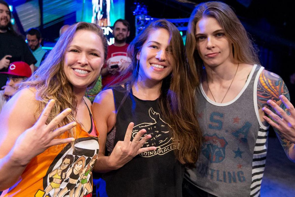 All Four Horsewomen Of Mma Are In Wwe Now Cageside Seats