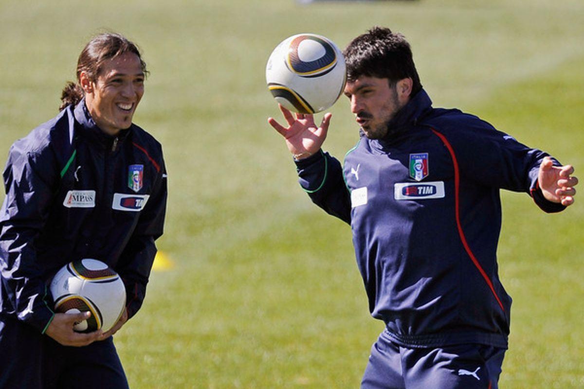 Is veteran midfielder Mauro Camoranesi being courted by Alan Pardew? (Photo by Kevork Djansezian/Getty Images)