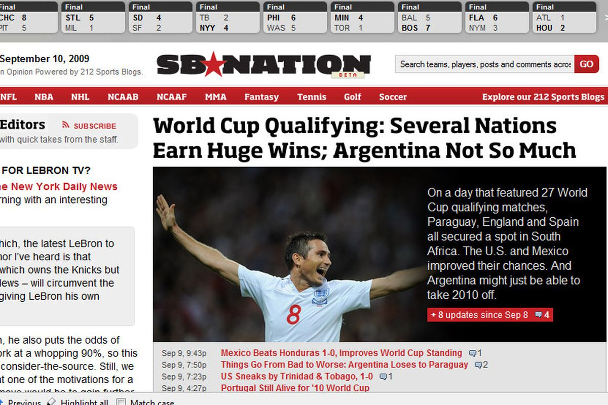 The new SB Nation: It's all you'll ever need to keep up on sports!