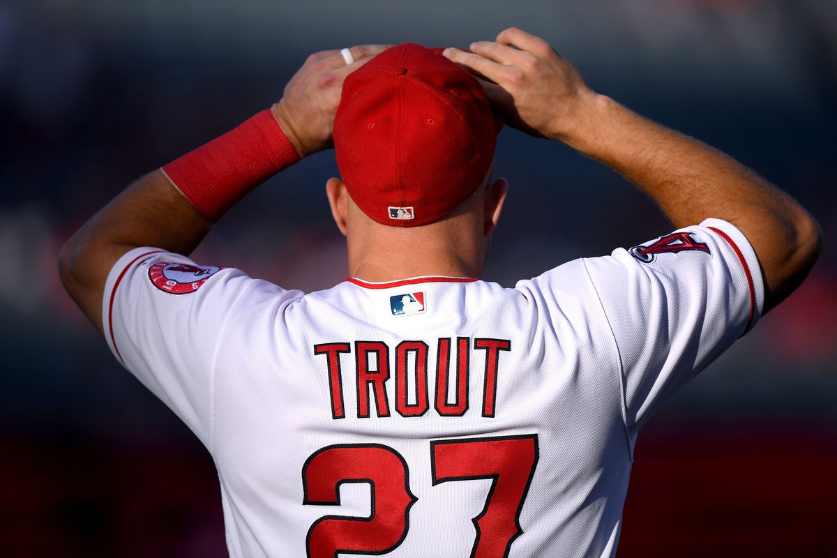 buy popular 1c5b0 8b563 Mike Trout makes his 7th straight All Star Game - Halos Heaven