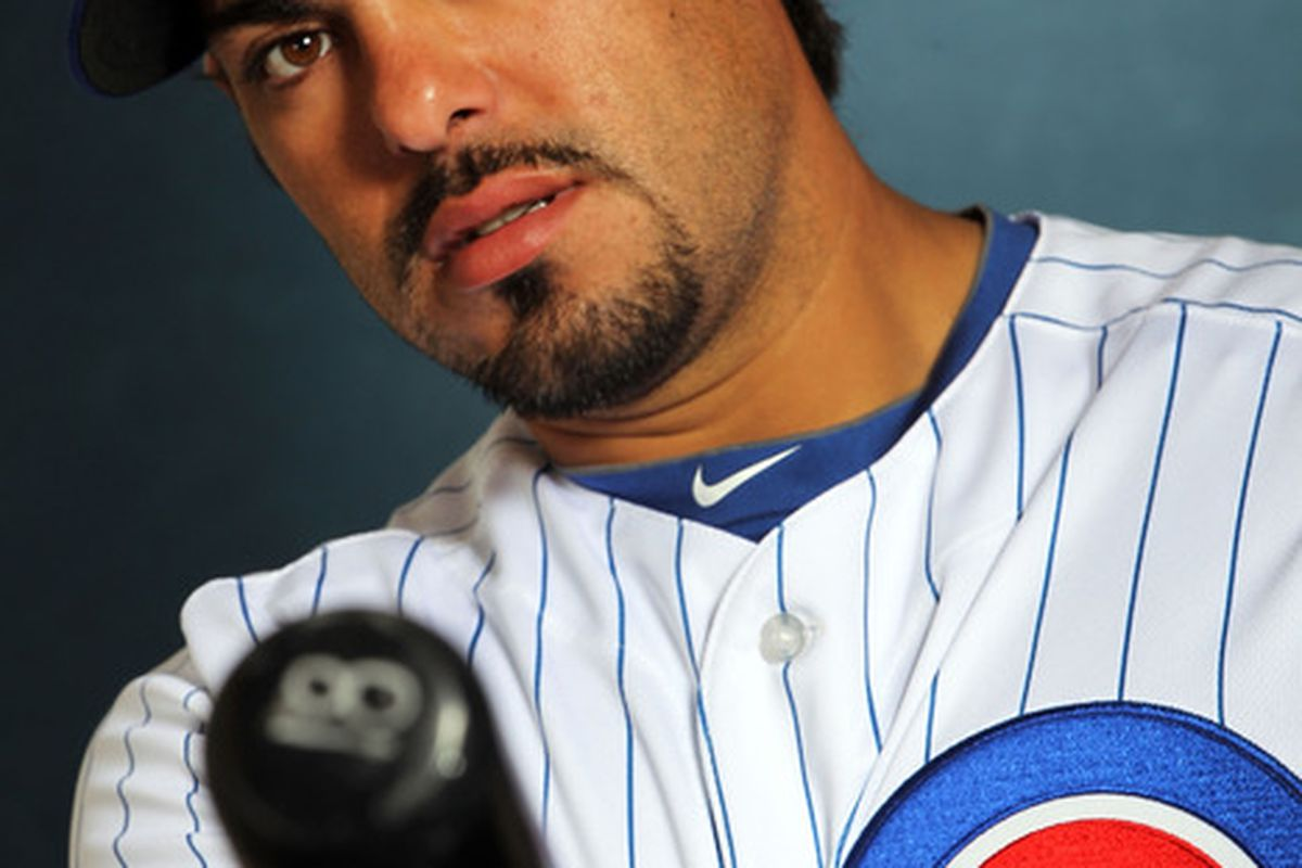 Catcher Geovany Soto of the Chicago Cubs poses during spring training photo day in Mesa, Arizona.  (Photo by Jamie Squire/Getty Images)
