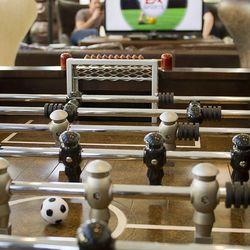 Foosball at EA Sports Bar.