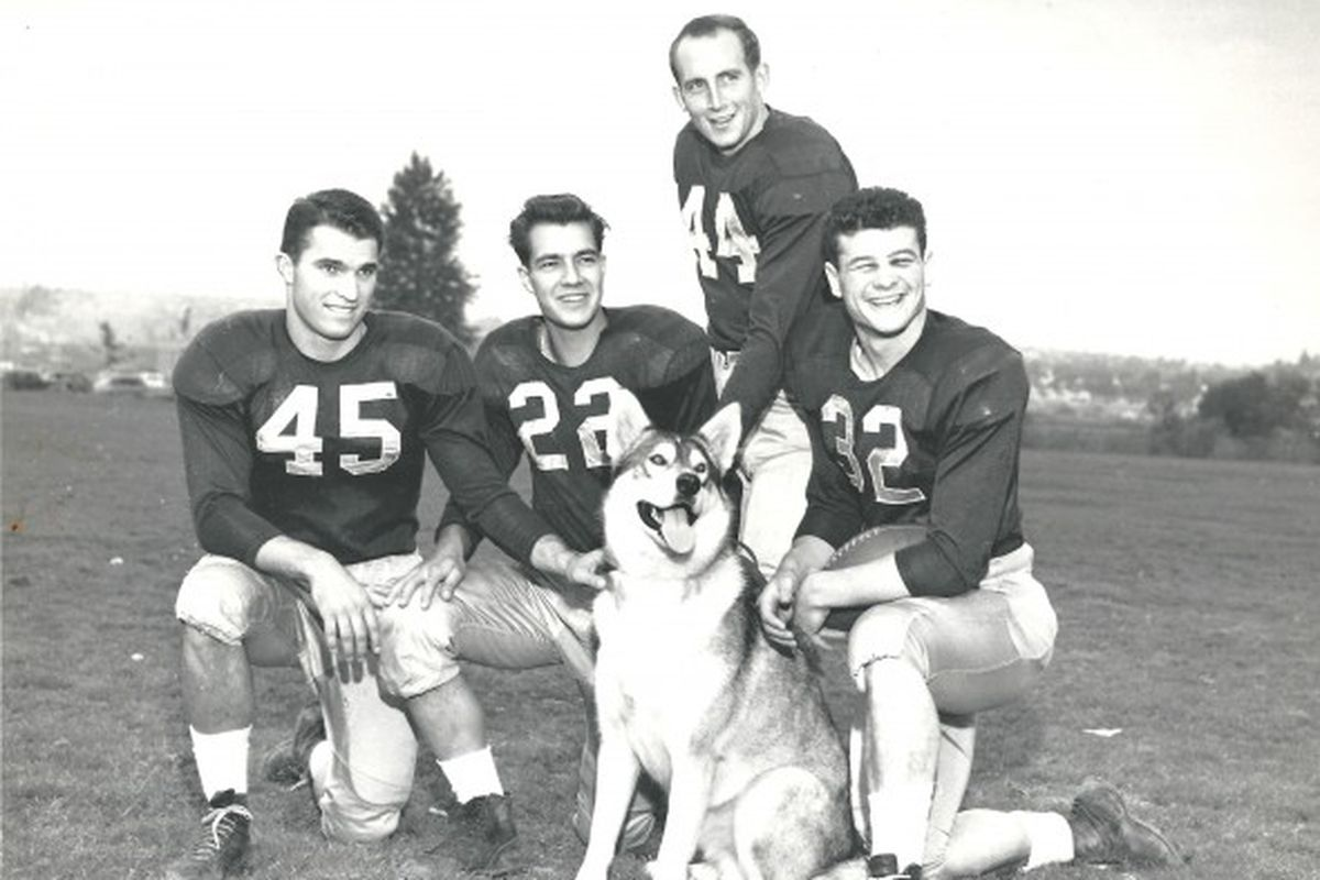 Can you name these Husky backfield legends?  Dick Rockne's book can help...