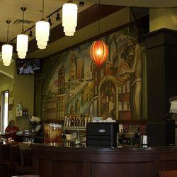 The bar at Metro Pizza.