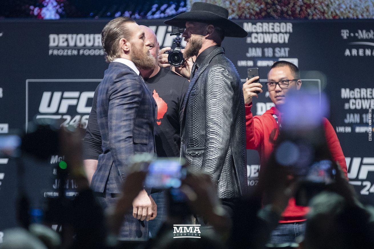 UFC 246 video: Conor McGregor vs. Donald Cerrone press conference staredown