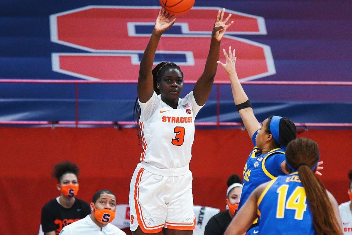 1.28.21 | Maeva Djaldi-Tabdi versus Pitt. Photo byMichael J. Okoniewski, Syracuse Athletics
