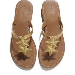 Starfish sandals in gold, $30 (online only)